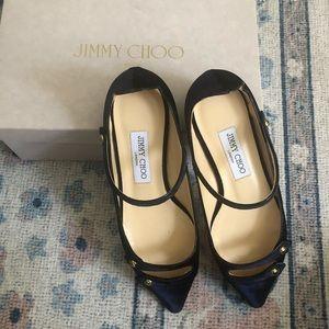 Jimmy Choo Layton Velvet Flats